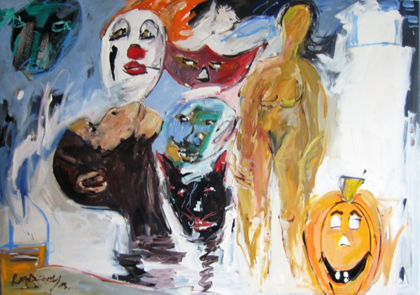 Halloween (Aus Menschen + Masken). 2013 - cwr7023