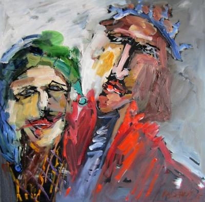 König Lear und sein Hofnarr. 2015 - cwr7124