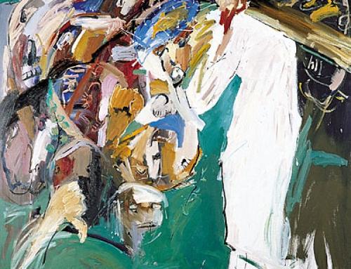 II. Station – Jesus wird mit dem Kreuz beladen – DIE BLAUE KRONE. 1998-99
