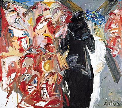 IV. Station - Jesus begegnet seiner Mutter - DIE BLAUE KRONE. 1998-99