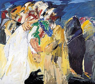 V. Station - Symon von Cyrene hilft Jesus - DIE BLAUE KRONE. 1998-99