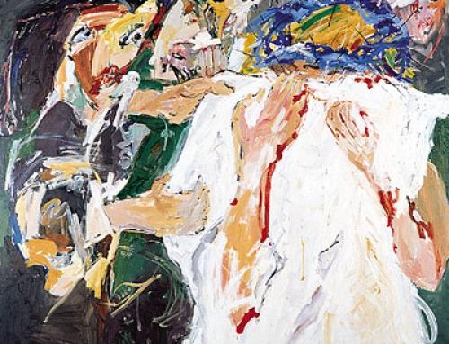 VI. Station – Veronika reicht Jesus ihr Schweißtuch – DIE BLAUE KRONE. 1998-99