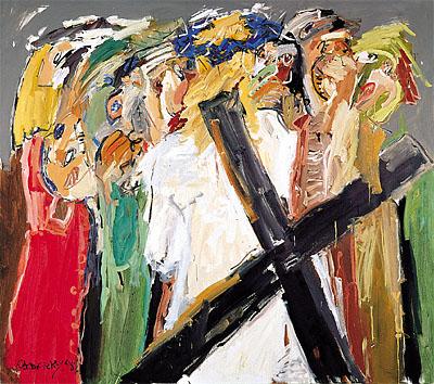 VIII. Station - Jesus spricht zu den weinenden Frauen - DIE BLAUE KRONE. 1998-99