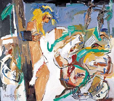 XII. Station - Jesus stirbt am Kreuz - DIE BLAUE KRONE. 1998-99