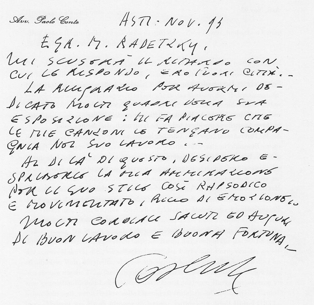 Paolo Conte Brief