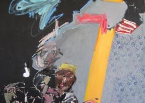 Über das Wasser kleben Hoffnungstapeten an Wänden, 2016 - cwr7137