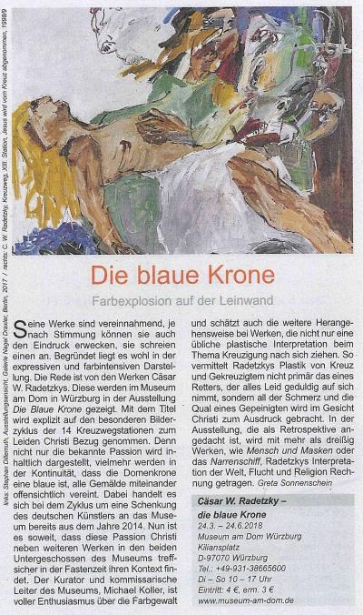 Artikel: Die Blaue Krone - Farbexplosion auf der Leinwand