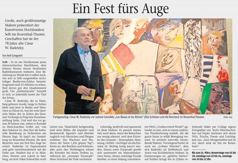 Artikel aus der Frankenpost: Ein Fest fürs Auge
